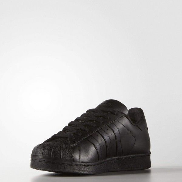 online store 81348 36c2a Adidas Superstar Foundation Black Trainers